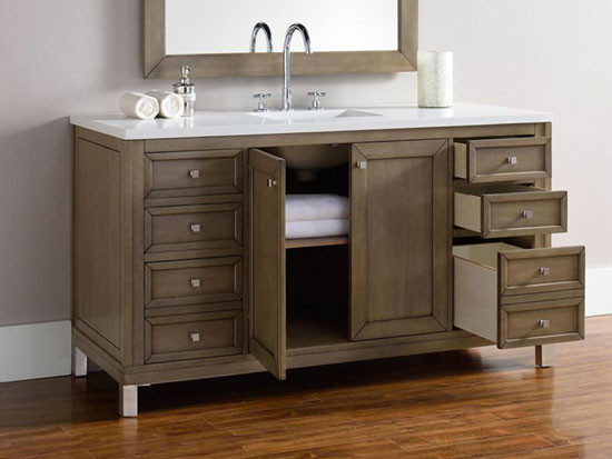 james martin chicago (single) 60-inch transitional bathroom vanity