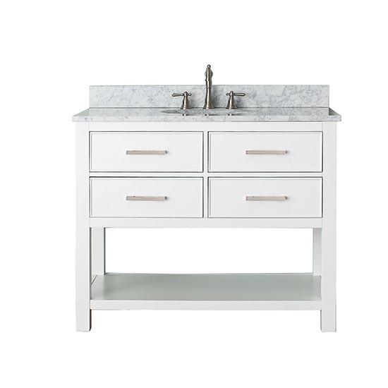 avanity brooks single 43inch white vanity cabinet u0026 optional countertops