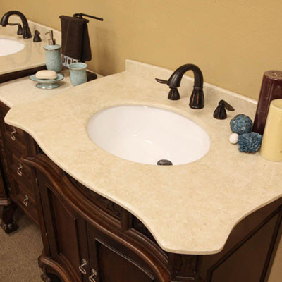 Montreal double 83 inch traditional modular vanity set with mirror option - Bathroom mirrors montreal ...