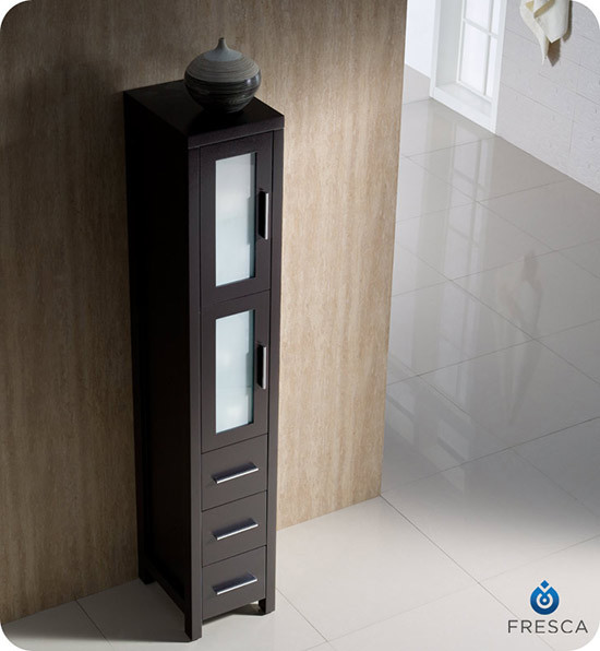 Fresca Torino 12 Quot Transitional Bathroom Tall Linen Side