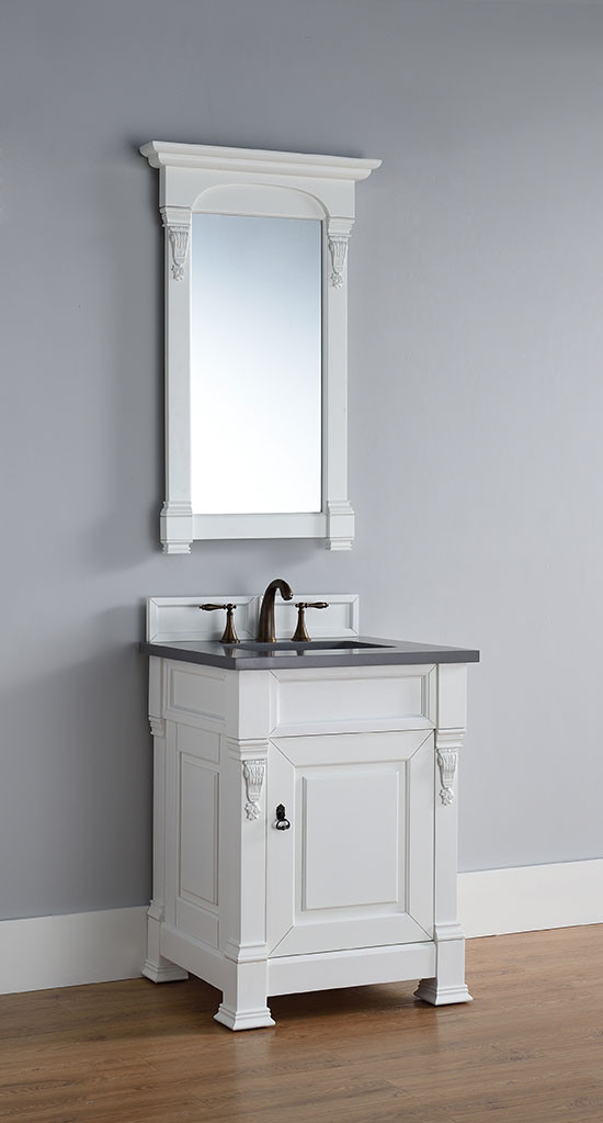 Amazing James Martin Brookfield (single) 26 Inch Cottage White Transitional Bathroom  Vanity With Top