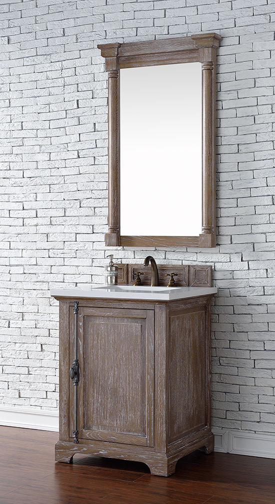 Charming James Martin Providence (single) 26 Inch Driftwood Transitional Bathroom  Vanity With Top Options
