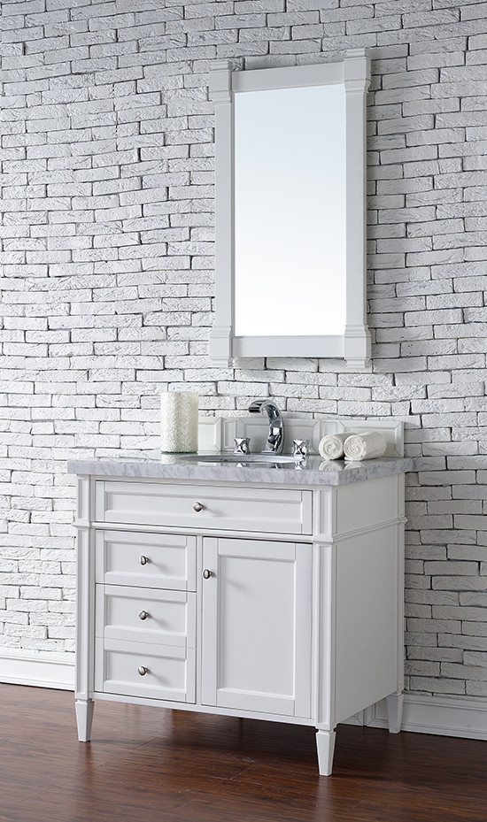 James martin brittany single 36 inch transitional - White cottage style bathroom vanities ...