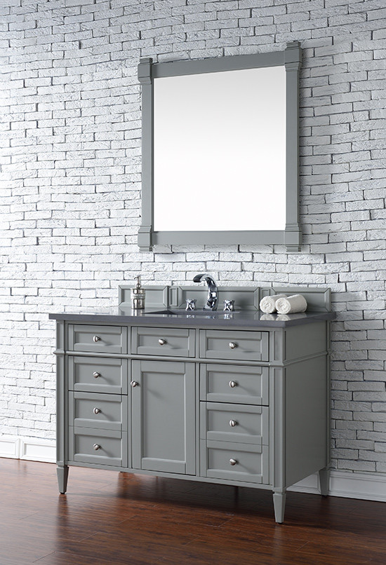 james martin brittany single 48inch urban gray vanity cabinet u0026 optional countertops