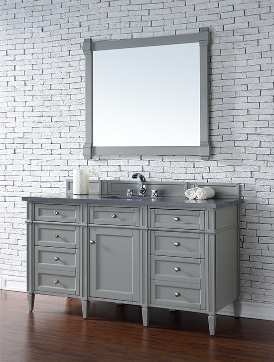 Superb 60 Inch Single Vanity Part - 7: James Martin Brittany (single) 60-Inch Transitional Bathroom Vanity - Urban  Gray