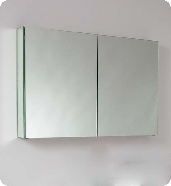 Fresca fmc8010 40 inch mirrored bathroom medicine cabinets for 40 inch kitchen cabinets