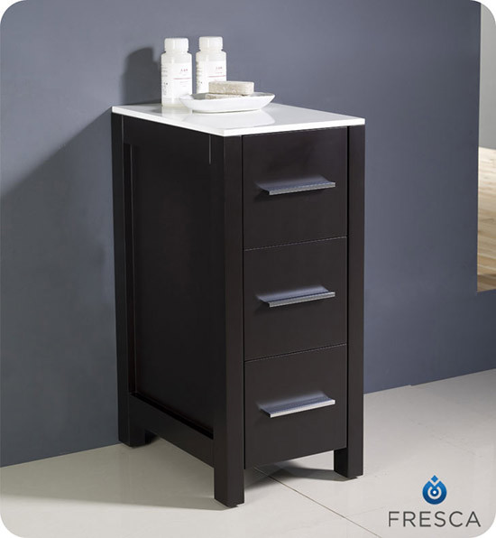 fresca torino 12 transitional bathroom linen side cabinet espresso
