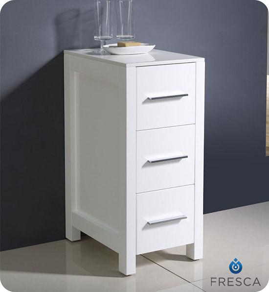 Fresca torino 12 transitional bathroom linen side cabinet for 12 inch wide floor cabinet