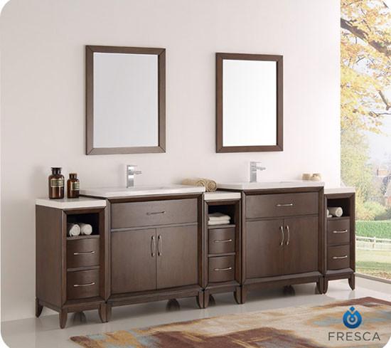Fresca Cambridge (double) 96inch Modern Bathroom Vanity