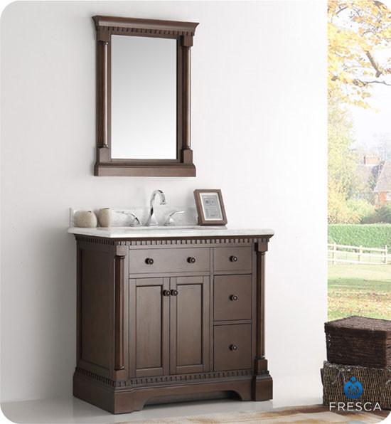 fresca kingston single 37 inch traditional bathroom