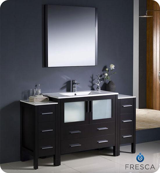 Fresca Torino Single Modern Bathroom Vanity Espresso With Integrated Sink