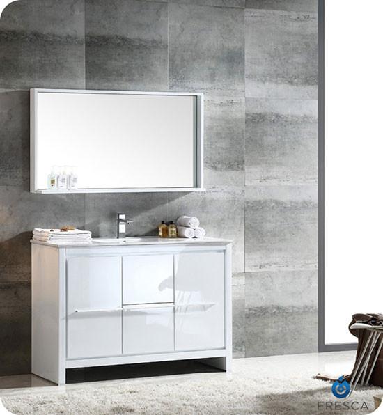 Fresca Allier (single) 47.25-inch Modern Bathroom Vanity ...