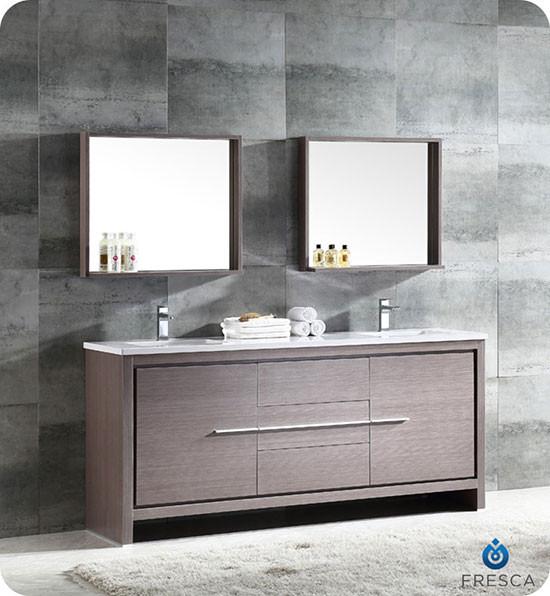 Fresca Allier Double 72 Inch Modern Bathroom Vanity