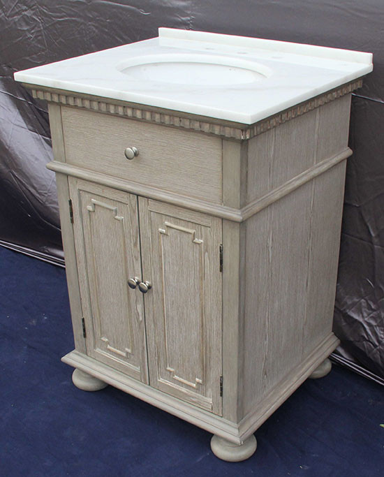 holbrook (single) 26-inch transitional bathroom vanity - whitewash