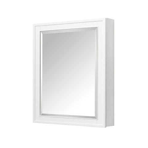 madison 28 inch traditional bathroom mirror medicine cabinet white