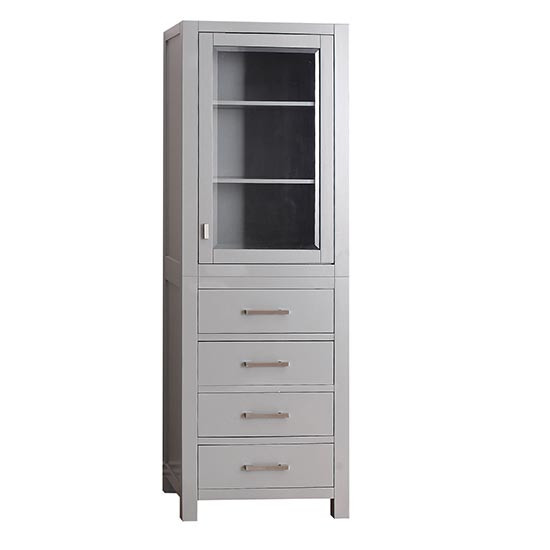 Avanity Modero 24 Inch Traditional Bathroom Tall Linen Side Cabinet Chilled