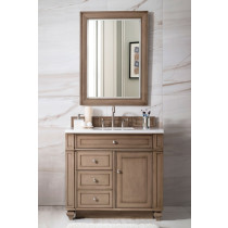 James Martin Bristol (single) 36-Inch White Washed Walnut Vanity Cabinet & Optional Countertops