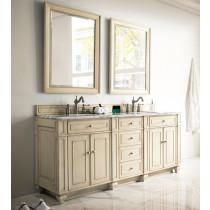 James Martin Bristol (double) 72-Inch Vintage Vanilla Vanity Cabinet & Optional Countertops