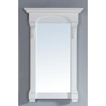 James Martin Brookfield 26-Inch Cottage White Transitional Bathroom Mirror