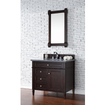 James Martin Brittany (single) 36-Inch Burnished Mahogany Vanity Cabinet & Optional Countertops