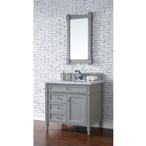 James Martin Brittany (single) 36-Inch Urban Gray Vanity Cabinet & Optional Countertops