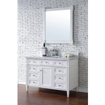 James Martin Brittany (single) 48-Inch Cottage White Vanity Cabinet & Optional Countertops