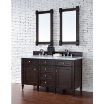 James Martin Brittany (double) 60-Inch Burnished Mahogany Vanity Cabinet & Optional Countertops