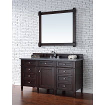James Martin Brittany (single) 60-Inch Burnished Mahogany Vanity Cabinet & Optional Countertops