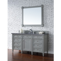 James Martin Brittany (single) 60-Inch Urban Gray Vanity Cabinet & Optional Countertops