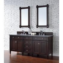 James Martin Brittany (double) 72-Inch Burnished Mahogany Vanity Cabinet & Optional Countertops