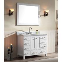Ariel Cambridge (single) 43-Inch White Modern Bathroom Vanity Set