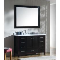 Ariel Cambridge (single) 49-Inch Espresso Modern Bathroom Vanity Set
