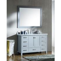 Ariel Cambridge (single) 49-Inch Grey Modern Bathroom Vanity Set