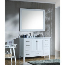 Ariel Cambridge (single) 49-Inch White Modern Bathroom Vanity Set