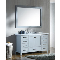 Ariel Cambridge (single) 55-Inch Grey Modern Bathroom Vanity Set