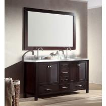 Ariel Cambridge (double) 61-Inch Espresso Modern Bathroom Vanity Set