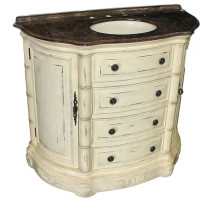 Clover (single) 42-inch Antique Parchment Traditional Bathroom Vanity