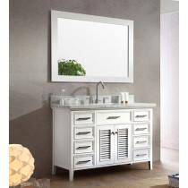 Ariel Kensington (single) 49-Inch White Transitional Bathroom Vanity Set