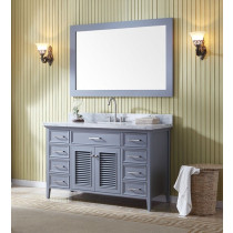 Ariel Kensington (single) 55-Inch Grey Transitional Bathroom Vanity Set