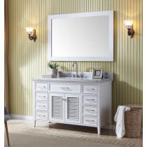 Ariel Kensington (single) 55-Inch White Transitional Bathroom Vanity Set