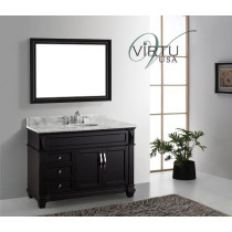 virtu usa victoria single 48inch espresso bathroom vanity with mirror