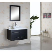 Virtu USA Marsala (single) 35.4-Inch Contemporary Bathroom vanity Set