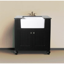 Melendy (single) 30-Inch Espresso Modern Bathroom Vanity