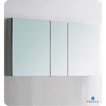 Fresca FMC8013 49-Inch Bathroom Mirrored Medicine Cabinet