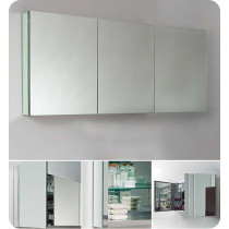 Fresca FMC8019 59-Inch Bathroom Mirrored Medicine Cabinet