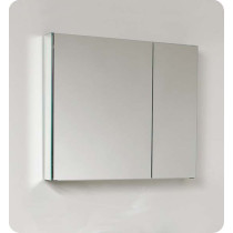 Fresca FMC8090 (single) 29.5-Inch Bathroom Mirrored Medicine Cabinet