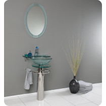 Fresca Ovale (single) 24-Inch Glass Modern Bathroom Vanity Set