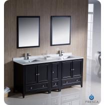 Fresca Oxford (double) 72-Inch Espresso Transitional Bathroom Vanity Set