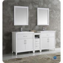 Fresca Cambridge (double) 72-Inch White Modern Bathroom Vanity Set