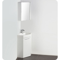 Fresca Coda (single) 17.5-Inch White Modern Corner Bathroom Vanity